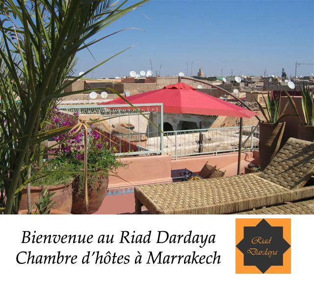 Welcome on our terrace - sun beds and table for breakfast - Marrakech - Nice riad - Free Wifi & Breakfast - Marrakech - rentals