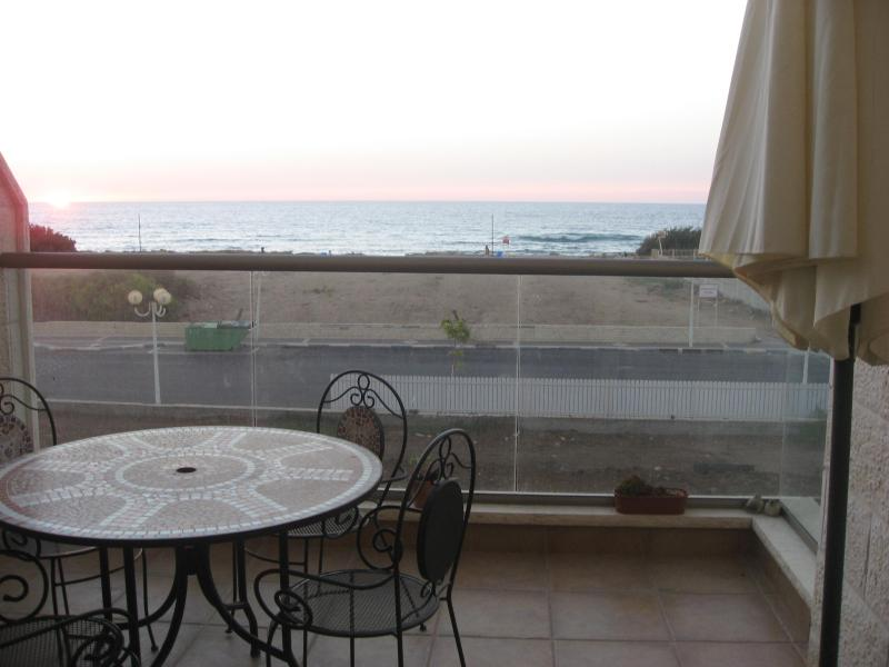 View from the balcony - Nahariya Israel Seafront Apartment Vacation Rental - Nahariya - rentals