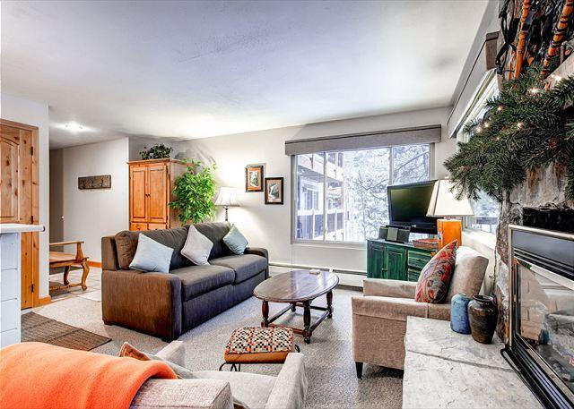 Timbernest Living Room Breckenridge Lodging - Timbernest B5 Condo Downtown Breckenridge Colorado Vacation Rental - Breckenridge - rentals