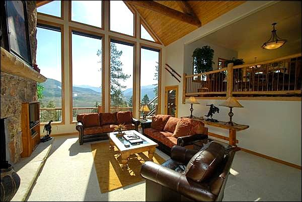 Spectacular Windows in the Living Room - 5,000 Square Foot Home - Perched Above Summerwood Neighborhood (8005) - Keystone - rentals