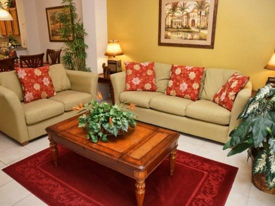Living Area - E3T3016YLL 3 Bedroom Townhome with Splash Pool and Free WIFI - Orlando - rentals