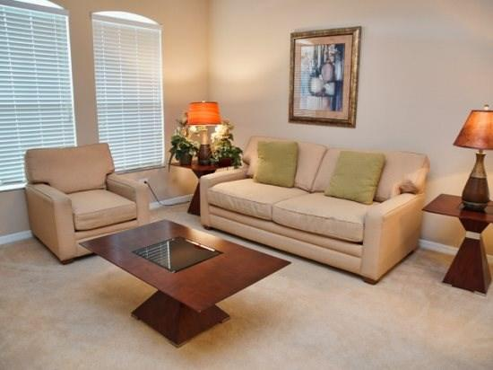 Living Area - WHI5P873SD 5 Bedroom Pool Home with Spa, WiFi, Near Disney - Orlando - rentals
