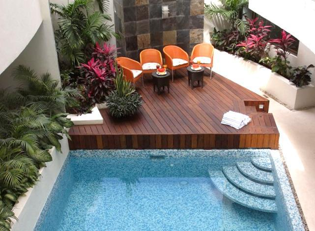 Common Area with Swimming Pool - On 5th Ave; Swimming Pool & Private Garden Patio - Playa del Carmen - rentals