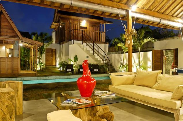 Global view at night - bedroom 1 and 2 - Private Luxury villa 4 Bedrooms near beach - Seminyak - rentals