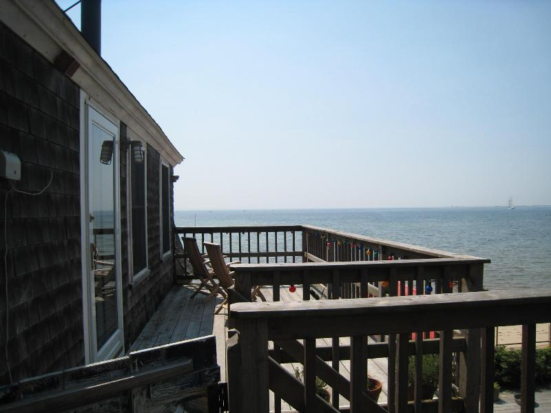 the view from the deck - 2 bedroom waterfront condo in Provincetown - Provincetown - rentals