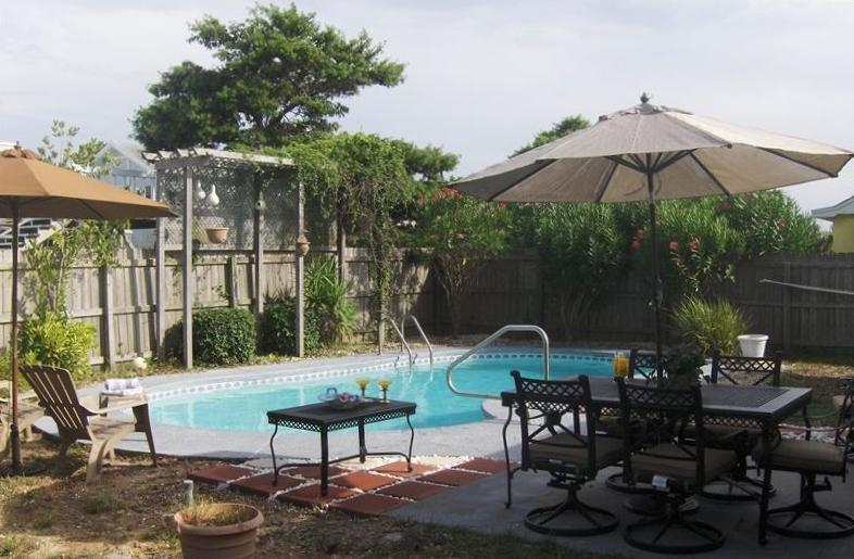 Private pool Fenced in back yard - Beach House on the Moon! - Panama City Beach - rentals