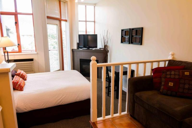 Very Bright Studio with Beautiful Mountain Views. Renovated with new carpet, new Queen bed, new fireplace. - Mila Lane - Whistler - rentals