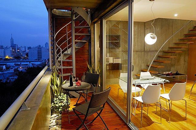 livingroom balcony - Penthouse/Terrace & pool/City views - Buenos Aires - rentals