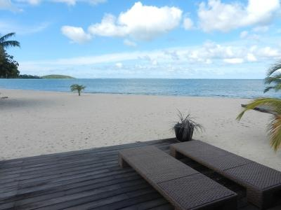 The Terrace and the View - SEASIDE Apartment on the Beach - Caribbean View - Nettle Bay - rentals