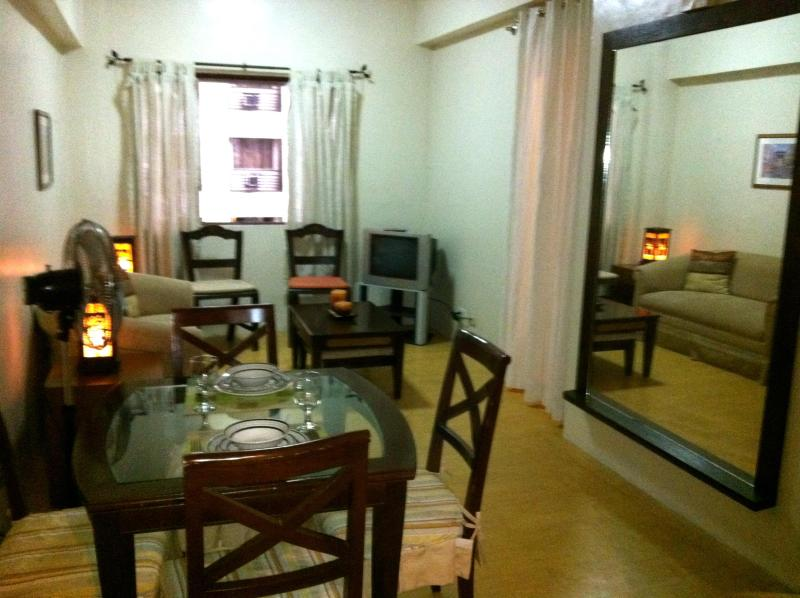 Living Room - Junior Suite in a One-Bedroom Set-up in Eastwood (Eastwood vacation Suites) - Quezon City - rentals
