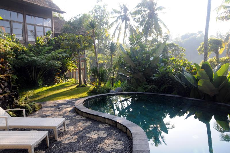 swimming pool plus house overview - Sublime, tropical forest view villa,Ubud,4BR - Ubud - rentals