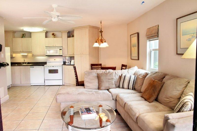 View from Living Room to Kitchen - Cayman Reef Resort #50 - Best Value on the Beach - Seven Mile Beach - rentals