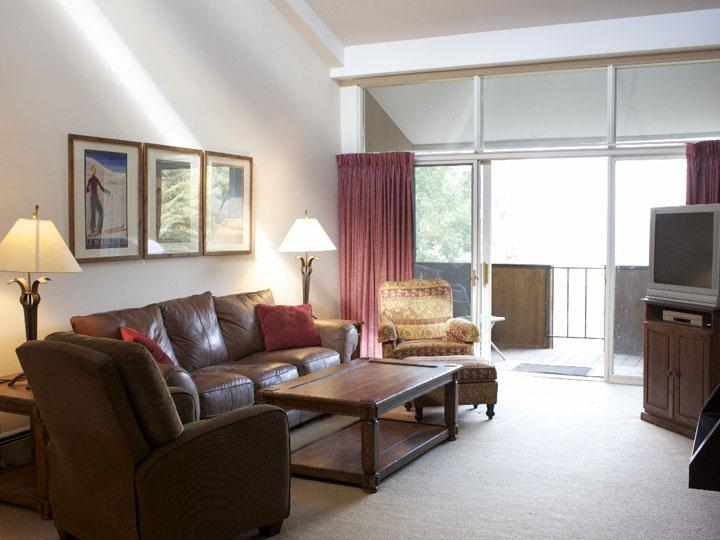Sunny Living Room Boasts a Fireplace, Private Balcony, and Vaulted Ceilings - Affordable & Centrally Located Condo - Close to the Eagle Bahn Gondola (23663) - Vail - rentals