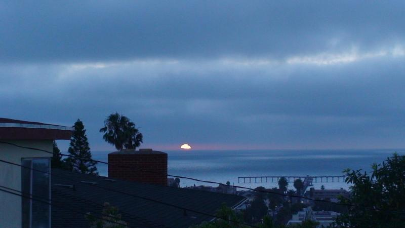 Night time view from front yard.  Ocean Beach Pier - Beautiful & Spacious Ocean View Beach House - Pacific Beach - rentals