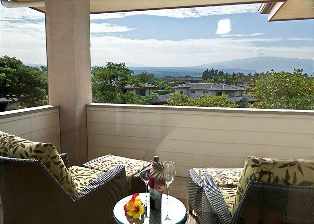 View from The Master Bedroom lanai - DELUXE TOWN WITH PRIVATE BEACH ACCESS !! HALE MALIA! LAVA FLOW SPECIAL AUG-OC - Kamuela - rentals