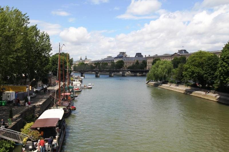 the apartment is on the left bank, in Saint Germain - Quiet 2 Bedroom Paris Apartment Near the Rue de Buci and Pont Neuf - Paris - rentals