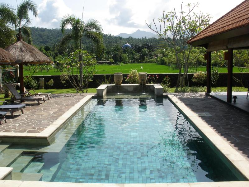 View from the terrace - Villa Bale Solah:3 bedrooms/bathrooms,private pool - Batu Layar - rentals