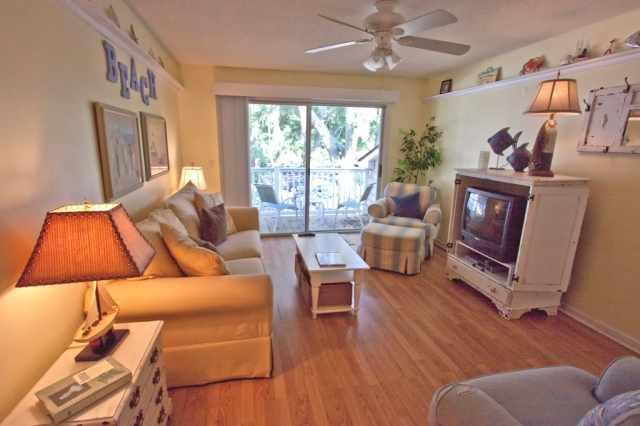 Beachy Living room (now with flat screen) - Great Getaway - Great Prices!  2bd2ba Ocean Walk - Saint Simons Island - rentals
