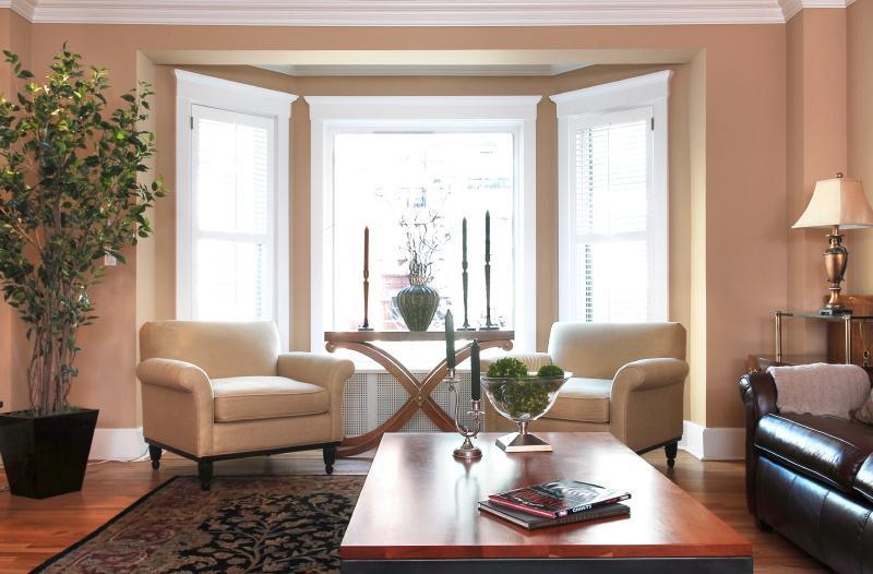 Bay Window facing Cedar Street - Magnificent Mile Gold Coast Luxury Brownstone [2] - Chicago - rentals