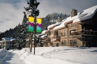 Alpine Greens from the Valley Trail in Winter - Alpine Greens Condos - 17 - Sun Peaks - rentals