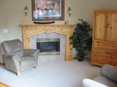 Fireplace - Snow Creek Village - 01 - Sun Peaks - rentals