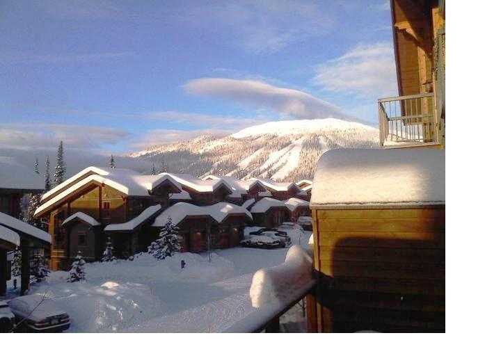 Winter View from deck - Woodhaven Townhouses - 13 - Sun Peaks - rentals