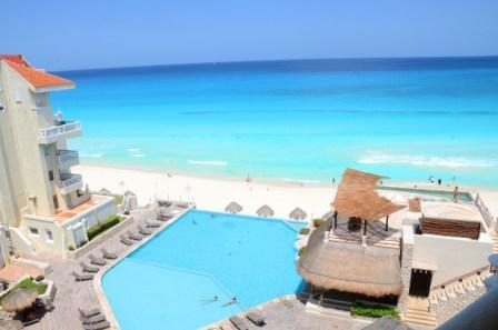 Pool and Sea from your balcony - Spectacular Loft on the Best Beach  04 - Cancun - rentals