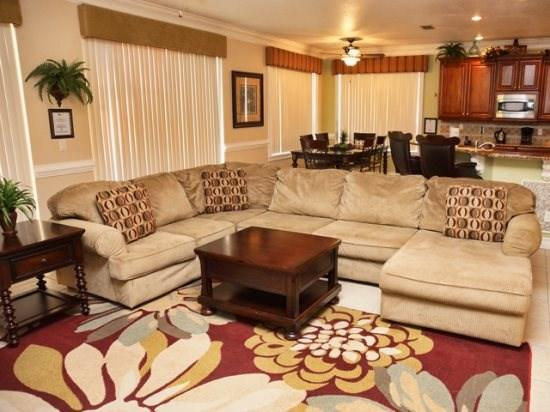 Living Area - HR5P610BD Beautiful 5 Bedroom Pool Home with WIFI,Games Room and SPA - Orlando - rentals