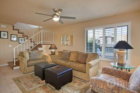Living Room - Steps from El Paseo -- Location! Style! Amenities!  Washer/Dryer - Palm Desert - rentals