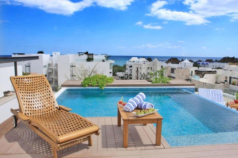 Stunning Roof top terrace, with seaview - Stunning Roof Top Pool, 2mins to beach & 5th Ave - Playa del Carmen - rentals