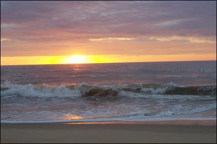 Sunrise from the deck - Ocean Block- Ocean View -85th St  3BR 2BA by owner - Ocean City - rentals