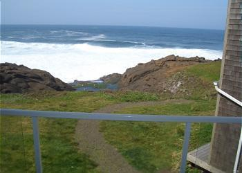 Balcony - Open 8/28-9/3 RSS Royal Pacific -Oceanfront Condo - Depoe Bay - rentals