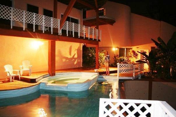 SunWest Villa: Pool shot at night - SunWest Villas Breathtaking Views of Caribbean Sea - Gros Islet - rentals