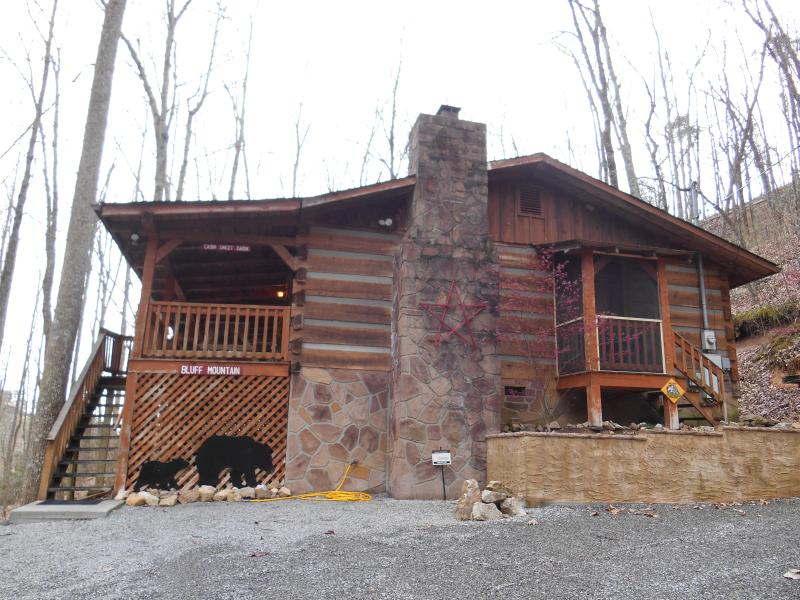 Outside of Cabin/Parking Area - Bluff Mountain Hideaway-Perfect for Your Family - Sevierville - rentals