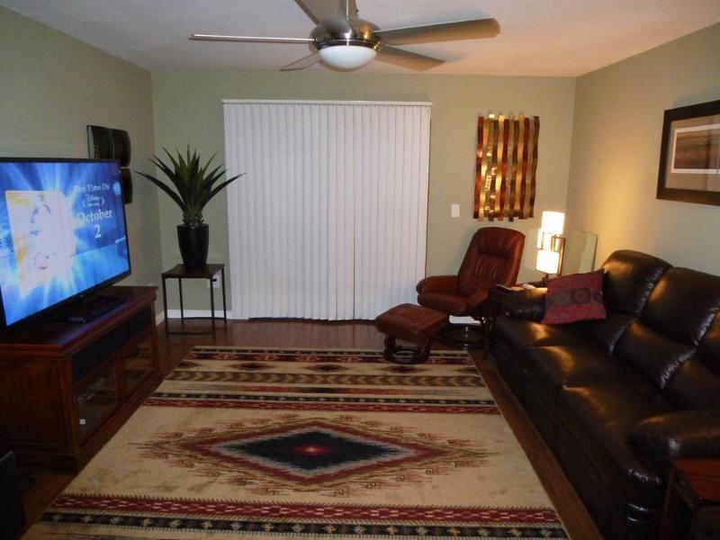 "Living Room with 65"" Flat Screen TV! - Beautiful, Modern Condo in Old Town Scottsdale! - Scottsdale - rentals"