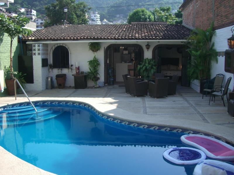 View from outdoor living room towards Casita - Casita Vida, 2 bdrm with pool in  Puerto Vallarta - Puerto Vallarta - rentals