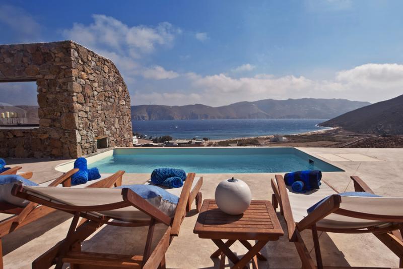 Pool Area - Mykonos Panormos - 3BD Private Pool Villa - Panormos - rentals