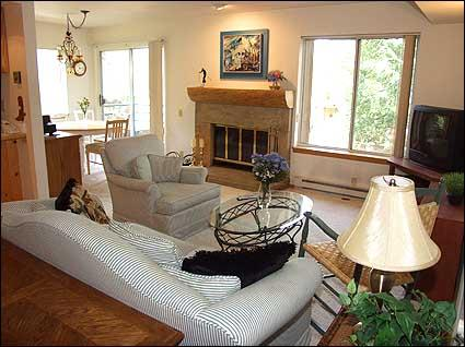 Living Room with wood burning Fireplace - Great Value Condo - On Shuttle Route (2177) - Snowmass Village - rentals