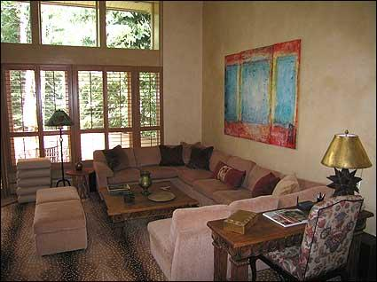 Large living room with wood burning fireplace - Exclusive Aspen Club - Top of the Line! (5312) - Aspen - rentals