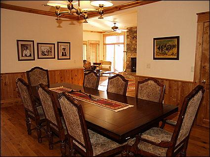 Dining Area for 8 - Rustic meets High End - Panoramic Views (6237) - Aspen - rentals