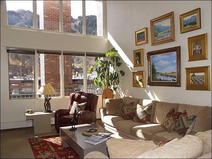 Bright, open living area with views - Location! Location! Location! - Outstanding Views of Ajax (6863) - Aspen - rentals