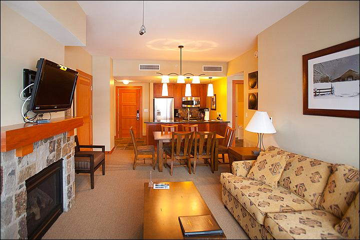 Great Room with Fireplace - New Capitol Peak Lodge - Close to Childrens Center (9291) - Snowmass Village - rentals