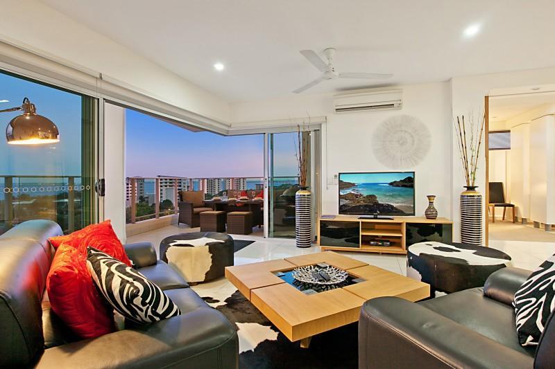 A great area to unwind after a busy day of exploring to catch a movie or watch sport  on Foxtel - Beachlife Sands Luxury Condo, Harbour Views - Darwin - rentals