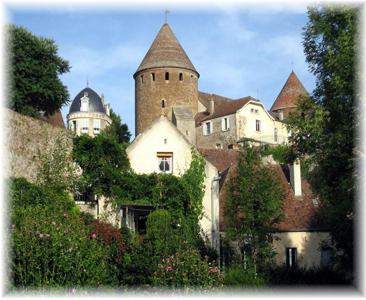 OUR HOUSE WITH TOWER IN BACKGROUND - The Secret House - Semur-en-Auxois - rentals