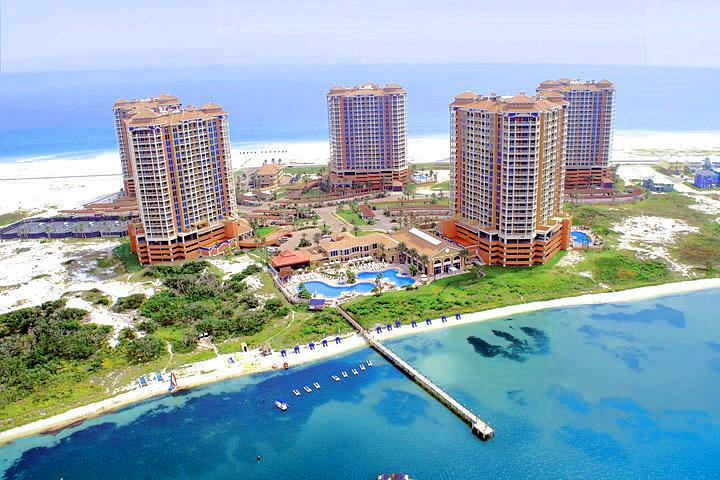 Portofino Island Resort and Spa - Aerial view - PORTOFINO-amazing waterview in every room-16 floor - Pensacola Beach - rentals