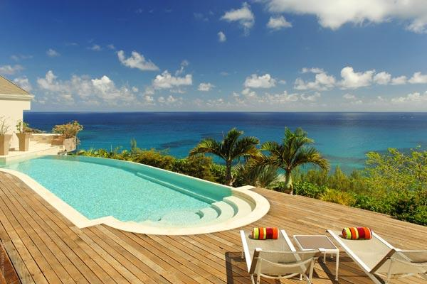 Wonderful retreat on the far side of the island with dramatic ocean views	 WV ACA - Image 1 - Saint Barthelemy - rentals