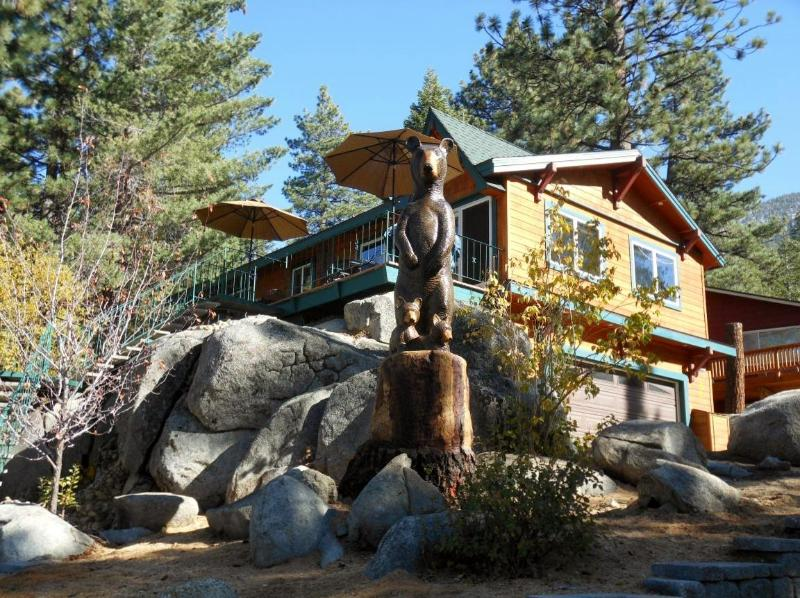Front of Home- w/ Missy the Bear! - Luxury Lakeview- Vacation Rental- 5th Night Free! - South Lake Tahoe - rentals