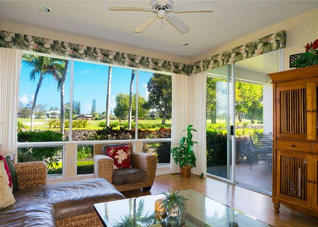 Emmalani Court 312: Air-conditioned 2br/2ba, walk to beach and St Regis, view - Image 1 - Princeville - rentals