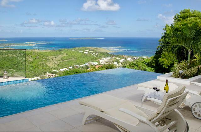 L'Agua...Oyster Pond, St Maarten 800-480-8555 - L'AGUA... fabulous 2 BR contemporary villa with breathtaking views - Saint Martin-Sint Maarten - rentals