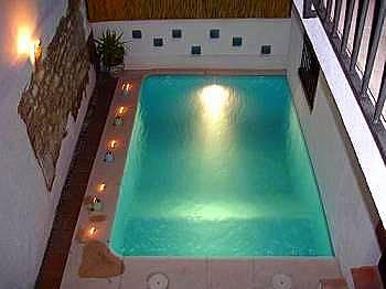 pool by night - CASA COLMENA high standard family villa - Albunuelas - rentals